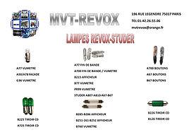 LAMPE REVOX - STUDER MVT REVOX