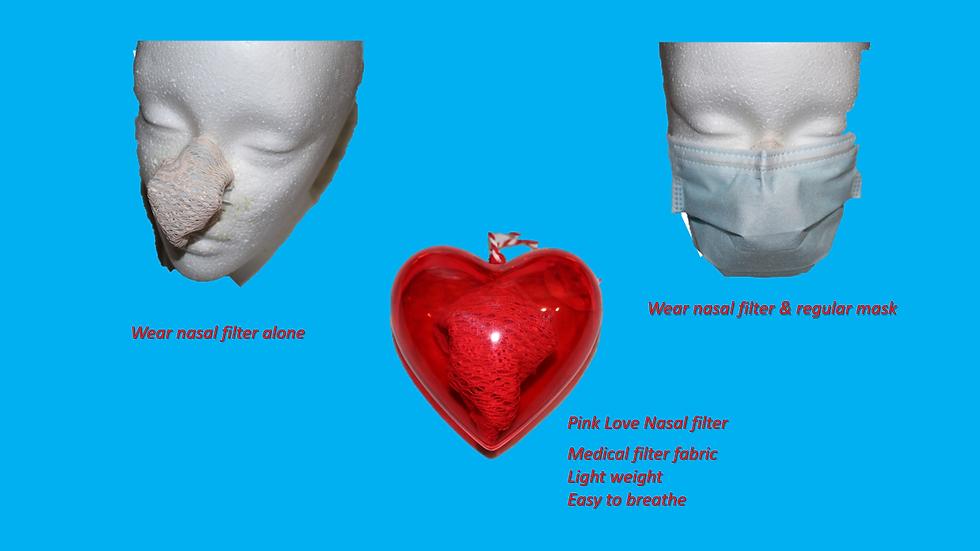 Pink Love Nasal Filter