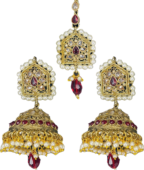 Lightweight Jhumki - Red