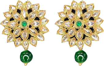 Flower Stud - Green