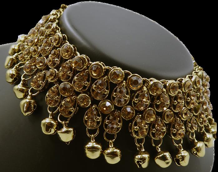 Large Gold Polki Jhanjar