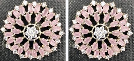 AD Stud - Pink/White