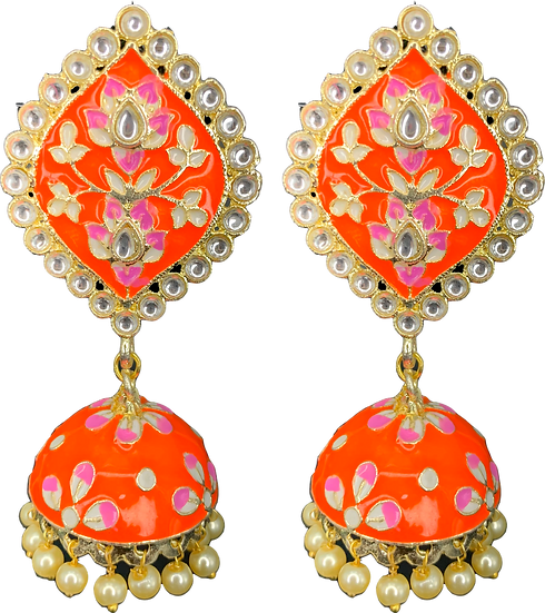 Meena Jhumki - Orange