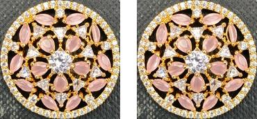 AD Stud - Rose Gold/Pink