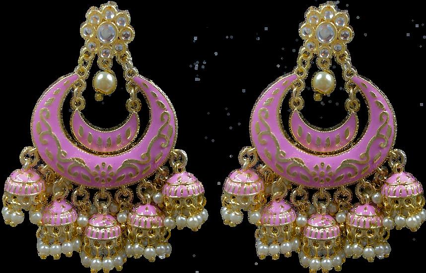 Meena 5 Jhumki - Pink