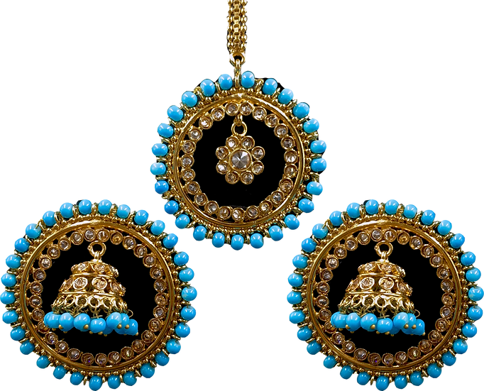 Jhumki Stud - Light Blue