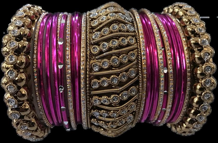 Large Ghajra - Pink