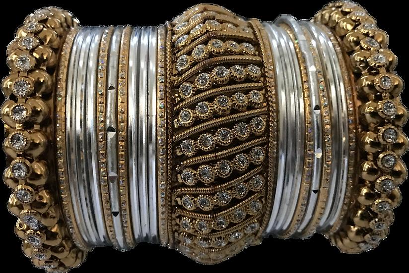 Large Ghajra - Silver