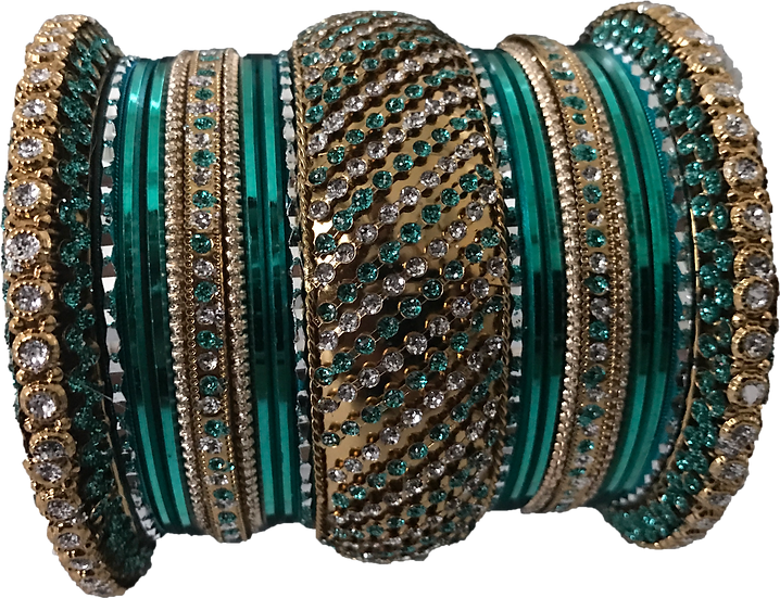 Stone Studded - Green