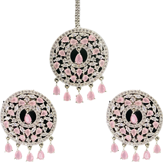 AD Set - Silver/Baby Pink
