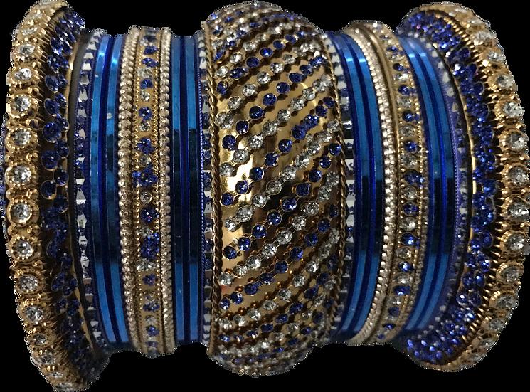 Stone Studded - Blue