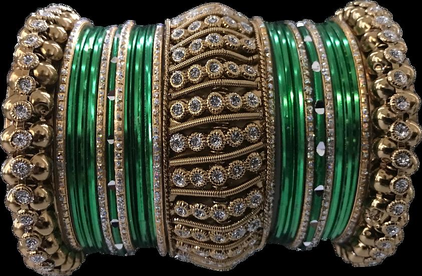 Large Ghajra - Green