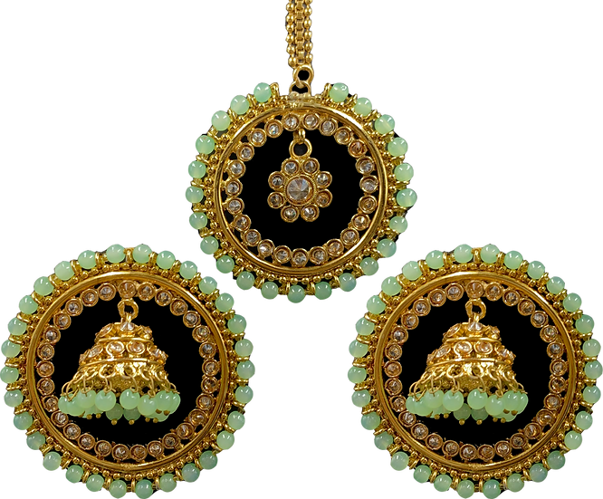 Jhumki Stud - Light Green