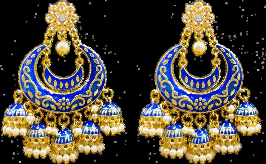 Meena 5 Jhumki - Blue