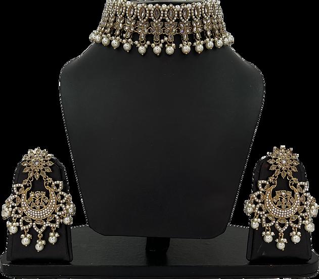 Shilpa - Gold/White
