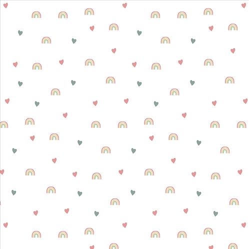 Arco Íris Coração Branco - AD15013