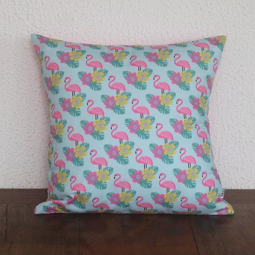 Almofada Flamingo Folhas - AC14190