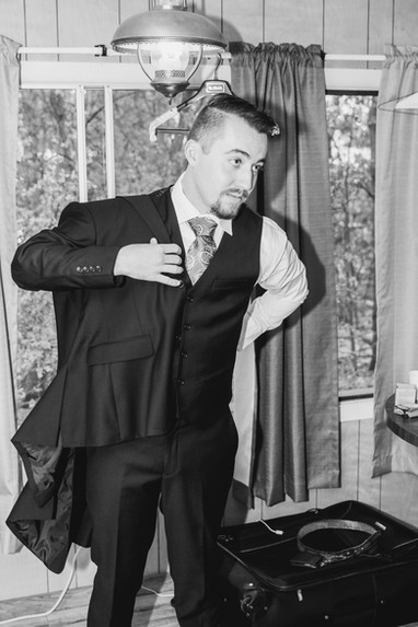 Groom and his Suit Jacket