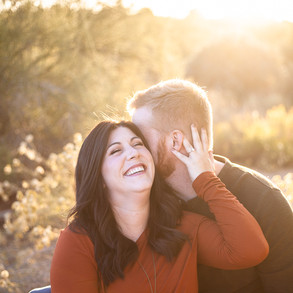 Tiffany & Dustin's Engagement at the Riparian Preserve