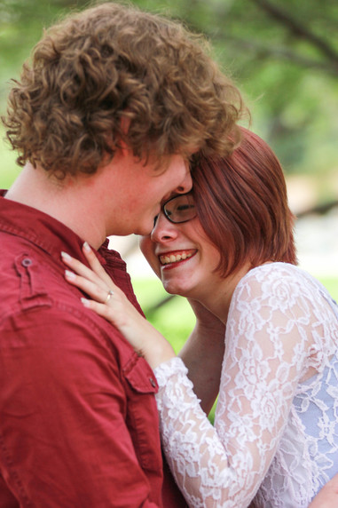 Young couple engagement photography