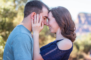 beautiful engaged couple during engagement photography session