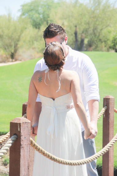 Local Scottsdale couple first look wedding photography