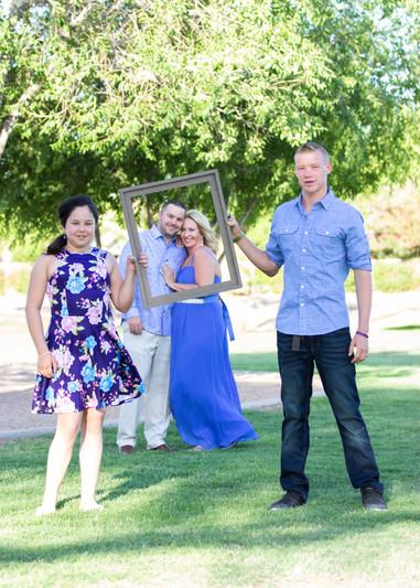 Backyard wedding couple phtography with kids