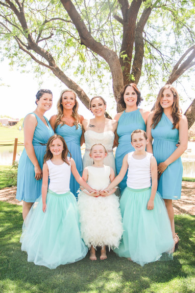 Local wedding photography bridal party