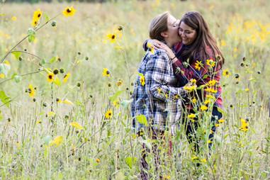 beautiful engaged couple portraits