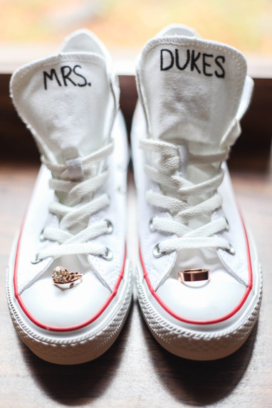 Future Mrs. Dukes wedding rings and dancing shoes