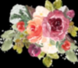 watercolor floral vector art