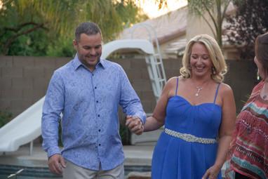 Backyard wedding couple says I do