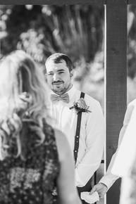 Groom seeing Bride as she walks down the aisle