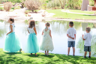 Flower girls and ring bearers local wedding photography