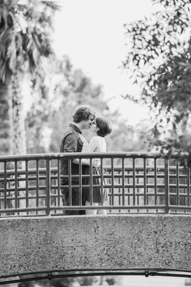Young couple engagement photography water