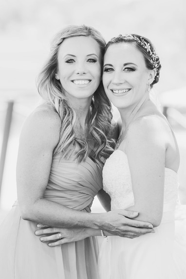 Local wedding photography bride with bridesmaid
