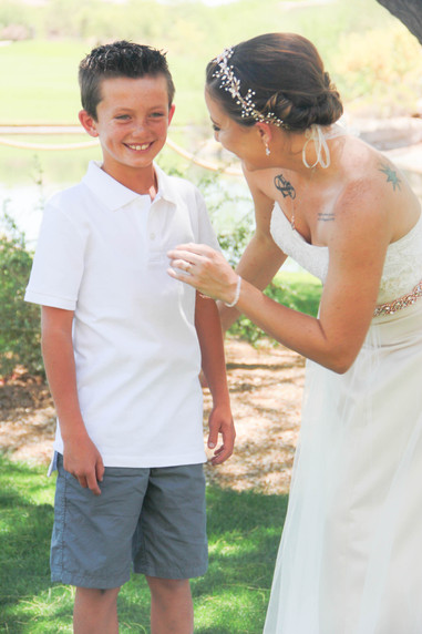Local wedding photography bride with ring bearer