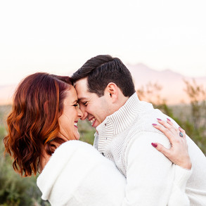Jessie & Brandon's Saguaro Lake Engagement