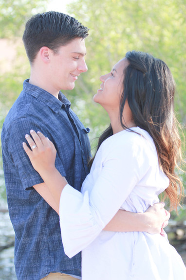 Young couple engagement photography papago park