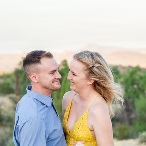 Kaley & Daniel's Desert Engagement