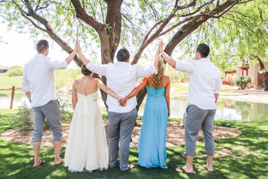 Local wedding photography bridal party high fiving