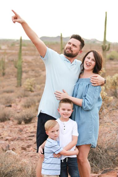 Desert family photos
