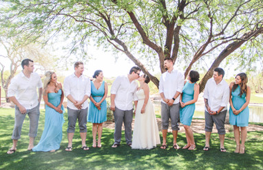 Local wedding photography in Scottsdale group wedding party photo