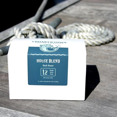 House Blend (Dark Roast) - Single Serving Pods - 12ct.