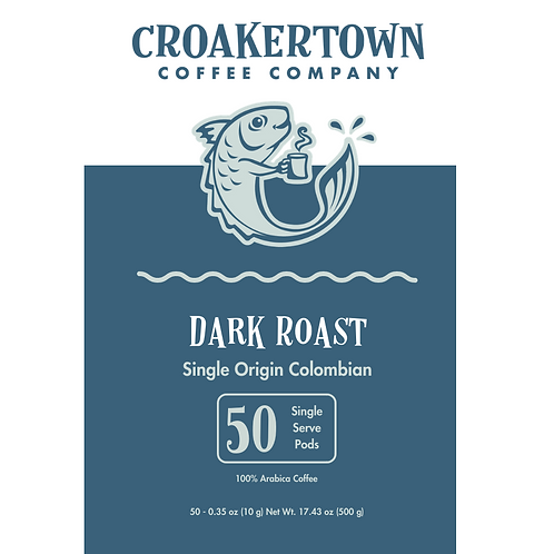 Colombian (Dark Roast) - Single Serving Pods 50ct.