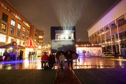 Film op 't Erf in de regen