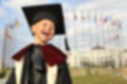 Kid in Graduation Toga