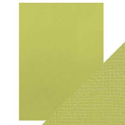 Weave Textured Card - Pistachio Green