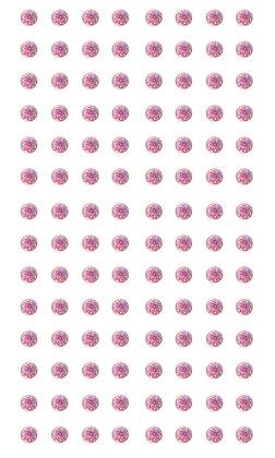 Self Adhesive Glitter Gems - 4mm Light Pink