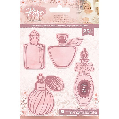 Sara Signature Rose Gold Stamp and Die - Scent with Love